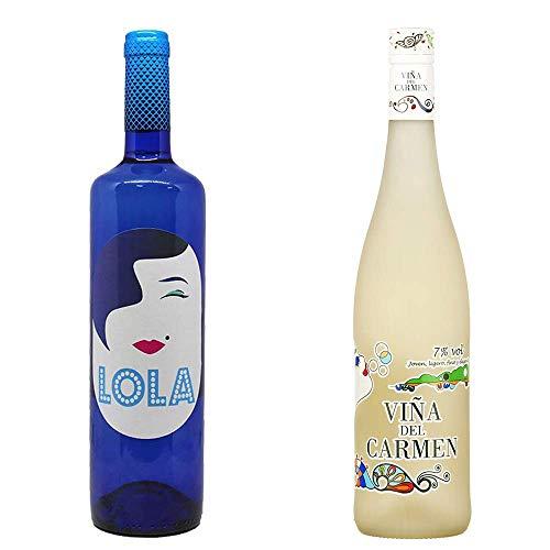 Lola Blanco Semidulce Y Viña Del Carmen - Vino Blanco - 2 Botellas De 750 Ml