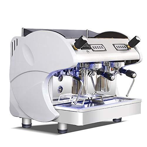 APPLL Máquina De Café Máquina De Café Profesional Industrial Italiana Semi-Automática De Espuma De Leche De Vapor Bomba Rotativa De Alta Presión De Extracción Cafetera/Doble Control De / 12L,Beige