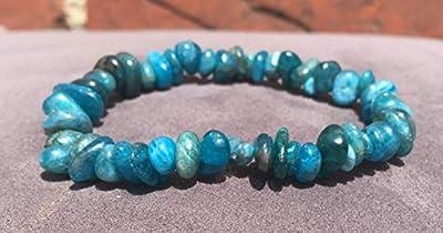 bracelet REGIME réduction d'apétit APATITE BLEUE pierre naturelle semi-précieuse