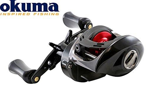 Okuma Ceymar LP C-266WLX Baitcaster Multirolle Linkshand, Angelrolle zum Spinnfischen, Rolle für die Spinnrute, 160m 0,29mm Schnurfassung, 5kg Bremskraft, 6,6:1 Übersetzung, 215g Gewicht