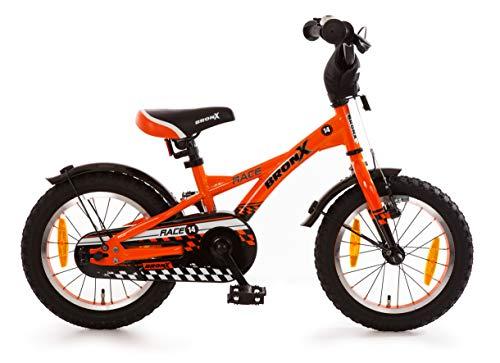 Bachtenkirch Kinderfahrrad 14 Zoll Rücktritt Fahrrad für Kinder ab 3 Jahre Junge Mädchen Jugendfahrrad Mountainbike Rad Kinderrad Orange