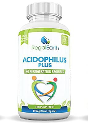 Probiotics - Acidophilus Plus - Digestive Enzymes High Strength Capsules Powder - Best Supplements for IBS for Men & Women - Works Great With Colon Cleanse - Contains 5 of the Most Essential Strains Designed to Improve Digestion and Strengthen Immunity -