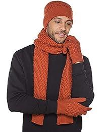 i-Smalls Herren Sheldon Beanie Hut, Handschuh und Schal Kollektion