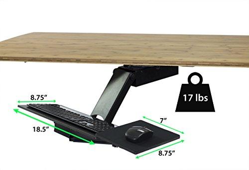 Uncaged Ergonomics KT2 Standing Desk Keyboard Tray with Negative Tilt - Black
