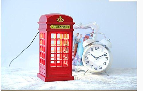 CLG-FLY Interruttore LED risparmio energetico cabina telefonica creativo carica luce notturna bambini camera da letto lampade luminescenti,Luce notturna Booth