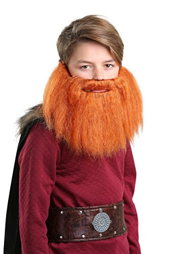 FUN Costumes Child Red Viking Beard - Red Beard Kostüm