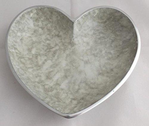 Formano Casablanca Herz Marmor Optik Aluminium 32965 Deko-Teller Kerzenteller Teller Schale