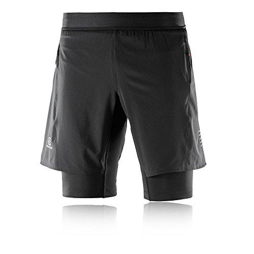 SALOMON Herren Lauf-Shorts Polyester//Elastan Agile TWINSKIN Short M