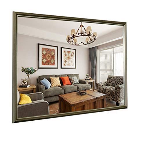 XIANWEI Badezimmerspiegel Massivholz Wand, Flur Oder Zierspiegel (Color : Antique Wood Color, Size : 60cmX80cm)