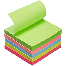 AmazonBasics - Haftnotizzettel - 76,2 x 76,2 mm - verschiedene Farben - 5 Blöcke