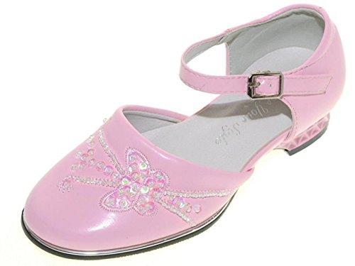 Ballerina festliche Schuhe Mädchenschuhe Kommunion Taufe Konfirmation 24 bis 35 Rosa