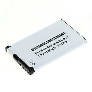 CELLONIC® Batterie premium pour Nokia 3720 / 5220 / 6303 / 63031 / 6730 / C3-01 / C5-00 / C6-01 (1100mAh) BL-5CT Batterie de recharge, Accu remplacement