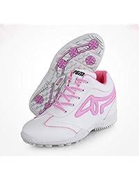super popular 637e2 b2990 KANGLE PGM Zapatos de Golf Mujeres 5.5 cm cuña talón Transpirable  Impermeable Zapatillas Anti-Skid Alto-Top Mujeres Zapatos…