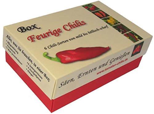 Box - Feurige Chilis - Anzuchtset - Säen, Ernten und Genießen - Das ultimative Geschenk für Chili Fans!