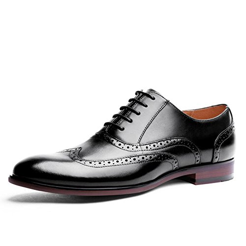 Größe Schwarz Schuhe Kleid 9 (Herren Formelle Brogue Oxford Schuhe Klassische Lace Up Kleid Schuhe Vier Jahreszeiten Schuhe Business Leder Schuhe Schwarz Braun Größe 6-14 GAOLIXIA ( Color : Black , Größe : 47 ))