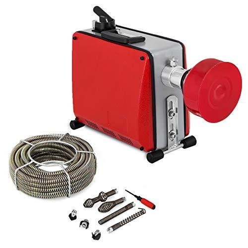 Frantools 220V Rohrreinigungsmaschine 390W Rohrreiniger 32mm bis 100mm drain clean Rohrreinigungsgerät für Sewer Badewanne