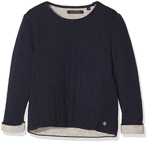 Marc O' Polo Kids Baby-Mädchen Sweatshirt 1/1 Arm, Blau (Night Sky|Blue 3143) 92