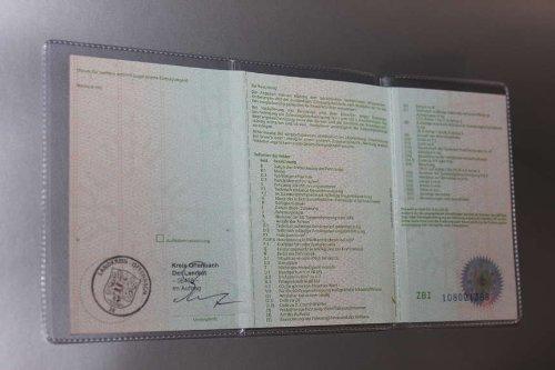 Dokumentenhülle KFZ Schein Schutzhülle Fahrzeugschein Hülle transparent NEU (1)