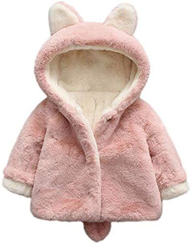 greatmtx Abrigo de Invierno para niña bebé Chaqueta cálida Gruesa Suave, Traje de Nieve con Capucha de Oreja Linda 1