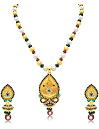 Sukkhi Dazzling Gold Plated Long Haram Necklace Set For Women