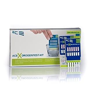 ACE Drogentester 4 in 1 - 2 x Schnelltest für Privatpersonen zur Bestimmung von 6 versch. Drogenarten…