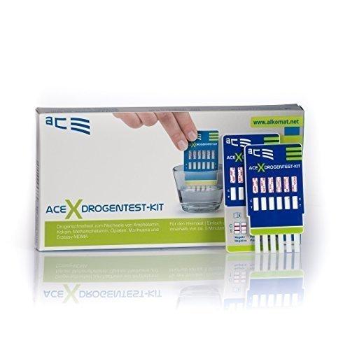 ACE Drogentester 4 in 1-2 x Schnelltest für Privatpersonen zur Bestimmung von -