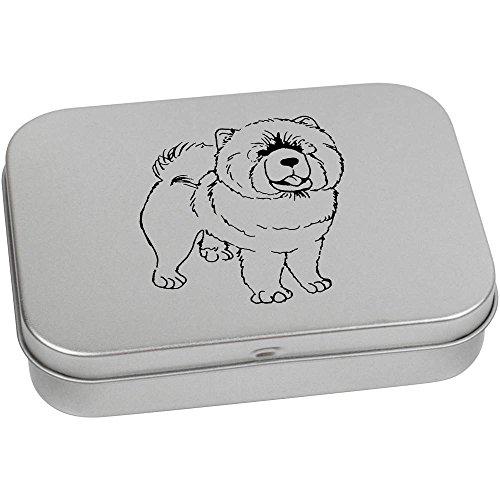 Chow-chow Essen Hund Hund (110mm x 80mm 'Chow Chow Hund' Blechdose / Aufbewahrungsbox (TT00070222))