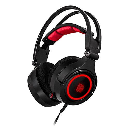 Thermaltake Cronos Riing RGB 7.1 USB Monoaural Diadema Negro, Rojo auricular con...