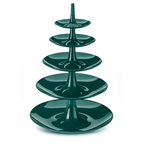 Koziol Etagere Babell Big, Kunststoff, emerald grün, 38 x 38 x 53cm, 3185649