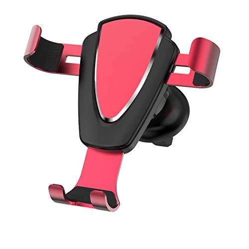 ZYNENMetall Handy Halterung Auto Outlet Schwerkraft Sensing Auto Halterung für iPhone Xr, Xs, X, Samsung Hinweis 9, S9, Huawei, Sony, HTC,Pink -