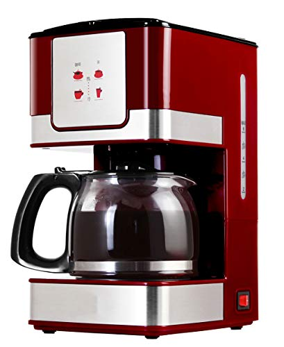 10 Cup Drip Coffee Maker (SLONG Kaffeemaschine, 6-10 Cup Drip Coffee Maker, programmierbar, Isolierte Fully Automatic Coffee Maker, 0.6 L)