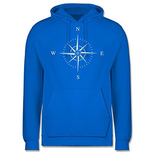 Statement Shirts - Kompassrose - Männer Premium Kapuzenpullover / Hoodie Himmelblau