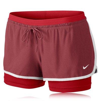 Nike Full Flex Short 2 en 1 pour femme Rouge - Rouge foncé