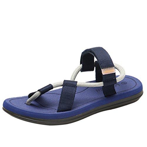 Yiiquanan Sandali Sportivi Scarpe da Spiaggia Uomo Casual Passeggio Infradito Outdoor Ciabatte Flip Flops (Scuro Blu, Asia 41)
