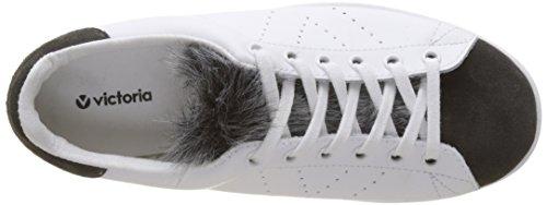 victoria Damen Deportivo Piel/Pelo Sneakers Grau (Antracita)