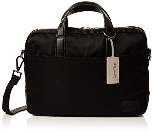 Calvin Klein Herren Ease Laptop Bag Extra Tasche, Schwarz (Black), 9x25x38 cm