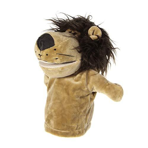 ZJL220 Nette Kinder Kid Plüsch Velour Tier Handpuppe Chic Designs Lernhilfe Spielzeug Löwe
