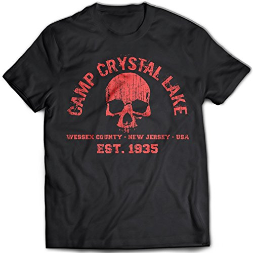 ke Herren T-Shirt Friday The 13th Halloween Jason Freddy 13 Camp Evil(XX-Large,Black) (Ziel-halloween-t-shirts)
