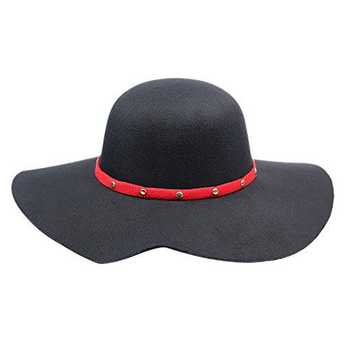Sitong femme fashion feutre ext¨¦rieur feutre visi¨¨re chapeau Noir