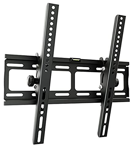 RICOO Support TV Mural inclinable plat R09 support universel écran plat mural inclinable TV LCD Meuble Support TV LED Plasma fixation murale TV Support VESA 400x400 universel compatible toutes marques