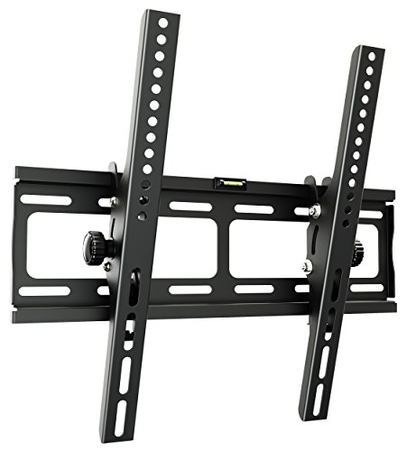 RICOO TV Wandhalterung R09 Universal für 32-65 Zoll (ca. 81-165cm) Neigbar Super Flach Wand Halter Aufhängung Fernseh Halterung auch für Curved LCD und LED Fernseher | VESA 200x100 400x400 | Schwarz