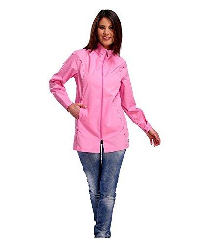 SIGGI - Casacca 'Laurel' con due tasche. Tessuto in poliestere 65% e cotone 35%. Peso 130 g/mq. - Taglia: XXL - Varianti: rosa