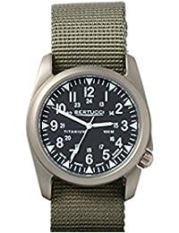 Bertucci h13464Unisex titanio patrimonio verde Nylon Band Negro Dial reloj