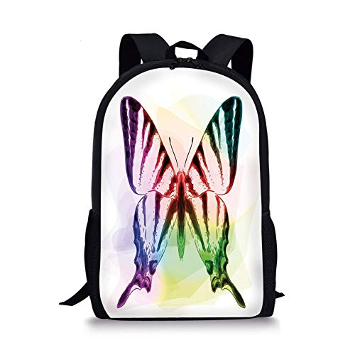 nd White,Watercolor Style with Carpe Diem Seize The Day Enjoy The Moment Decorative,Yellow Marigold Pink for Boys&Girls Mens Sport Daypack ()