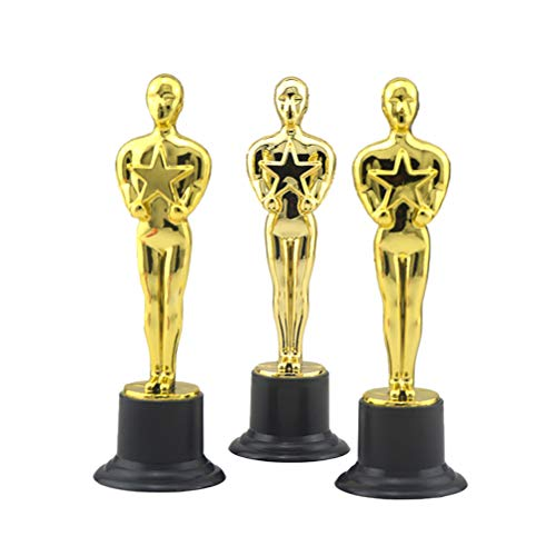Toyvian Trofeo Oro plástico Premios trofeos Premios