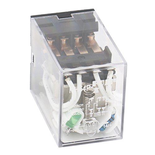 heschen Gereral propósito alimentación del relé HH54P-L 12VDC bobina 3A 220VAC/24VDC 4PDT 14pines terminales indicador LED