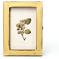 WINOMO Vintage Marcos de fotos madera para tienda casa tienda decoración 6 pulgadas (amarillo)