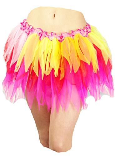 Apple Kostüm Fancy Dress - Rainbow Farbe RARA-Minirock Festival Mini Tutu Fancy Kostüme Rock Gr. One Size, Coloured Apple Green