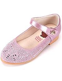 Zapatos Niñas Carnaval Zapato Princesa Niña Sandalias de Vestido Flat Shoes  Bailarinas Princesa Zapatos con Tacón b8eac731ec29