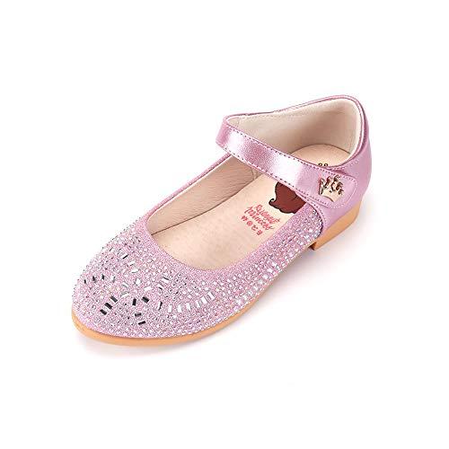 HXD Mädchen Glanz Prinzessin Kostüm Ballerina Festliche Dance Mädchenschuhe Taufschuhe Schuhe (29 EU, (Ballerinas Kostüme)